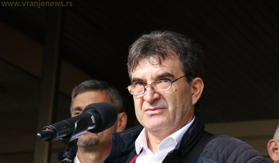 Bulatović nas je prevario: Slađan Ristić, predsednik Inicijativnog odbora štrajkača. Foto VranjeNews