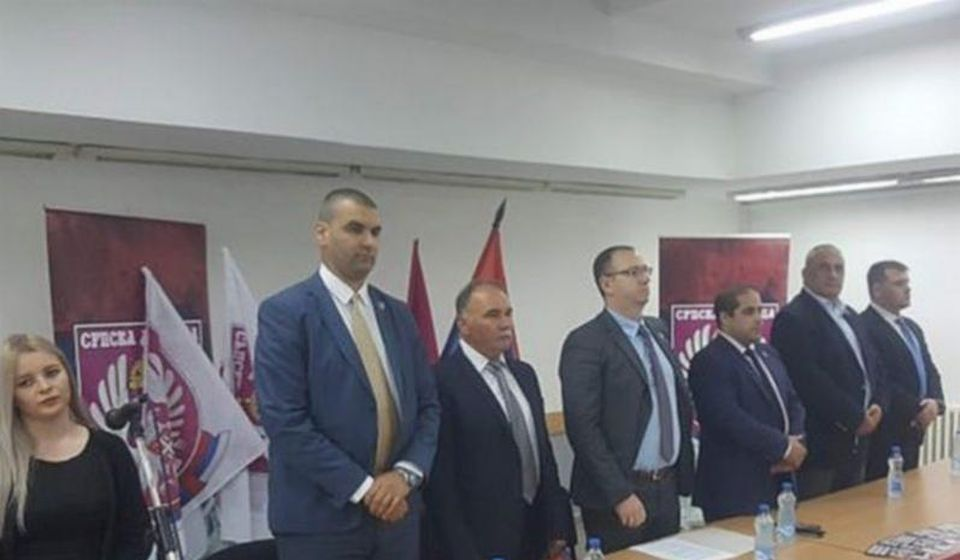 Sa osnivačke skupštine Srpske desnice u Bujanovcu. Foto Bujanovačke