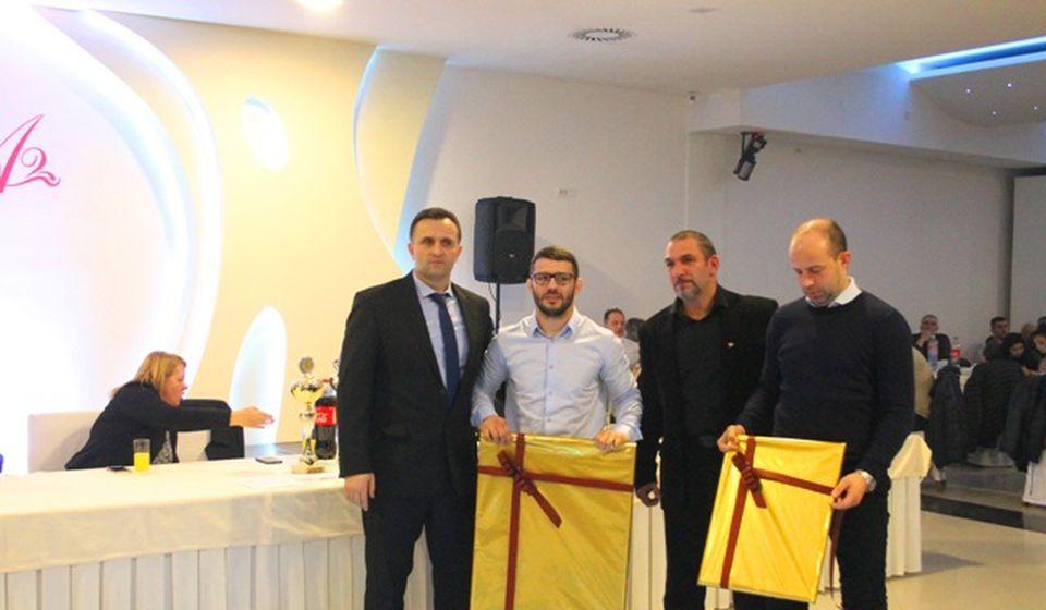 Štefnek na dodeli priznanja najboljim sportistima Vranja 2019. godine. Foto Vranje News