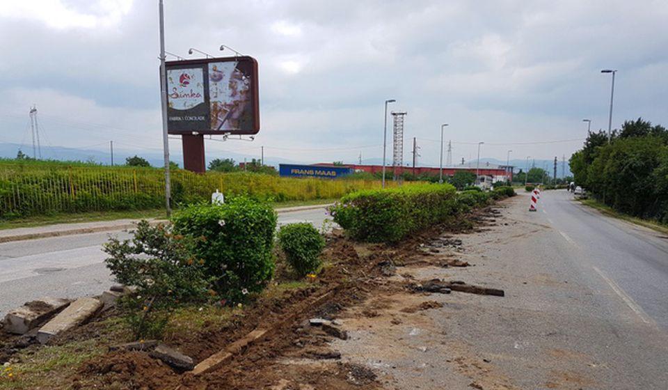 Uklanjanje starih ivičnjaka: Ulica Radnička. Foto VranjeNews