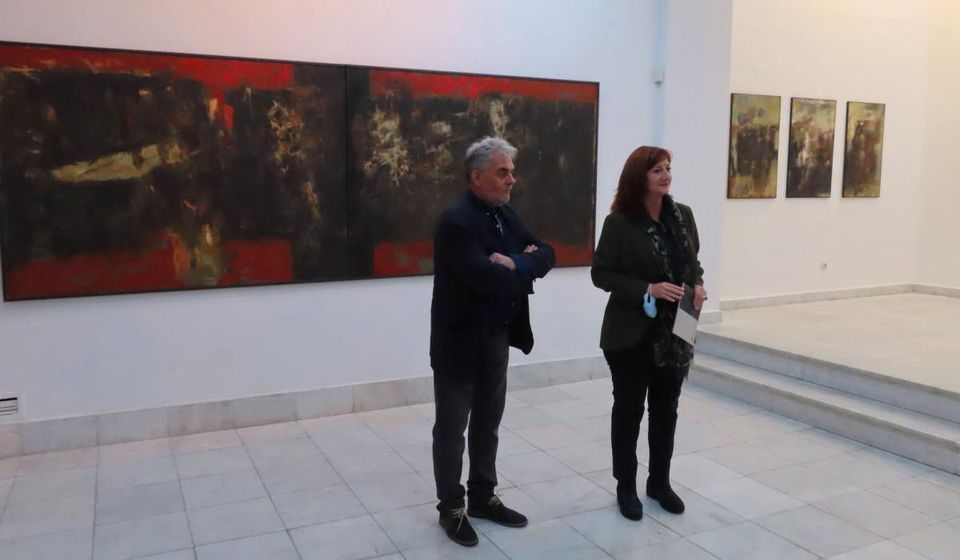 Detalj sa otvaranja izložbe u Beogradu. Foto Mario Leone Bralić (Fejsbuk)