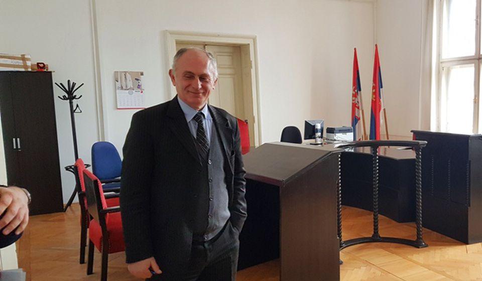 Stojadin Stanković u jednoj od sudnica Osnovnog suda u Vranju. Foto D. Dimić, VranjeNews