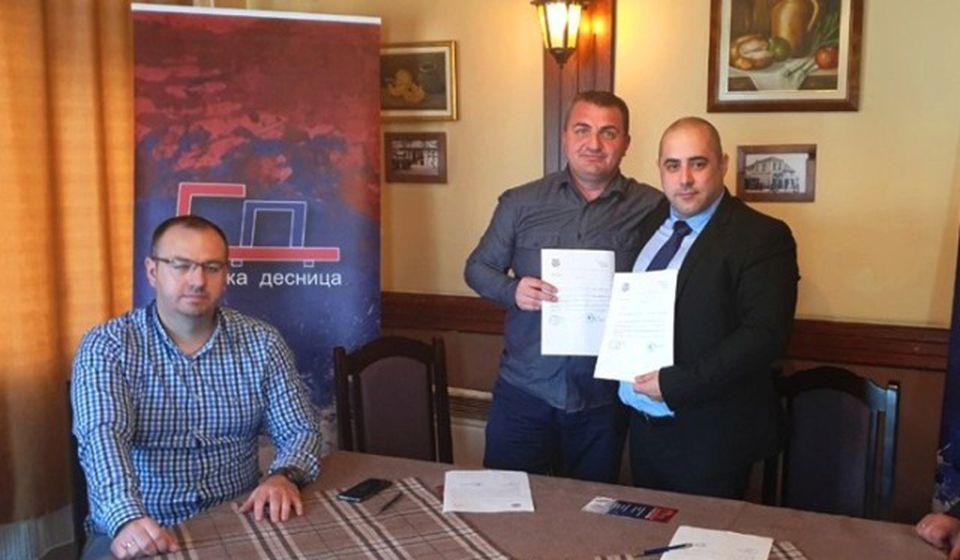 Vacić na osnivanju odbora Srpske desnice u Vranju. Foto Srpska desnica