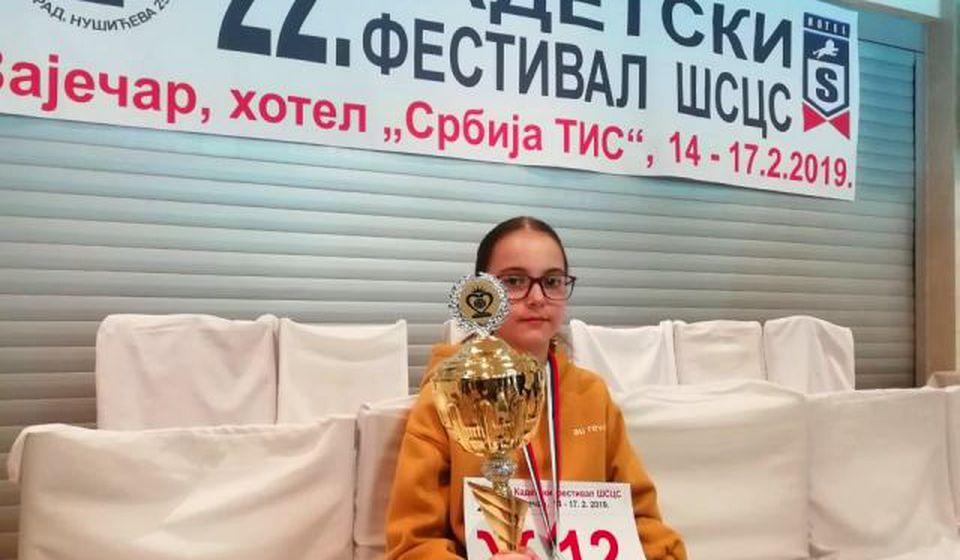 Sofija Stojanović već ima zvanje majstorskog kandidata. Foto privatna arhiva