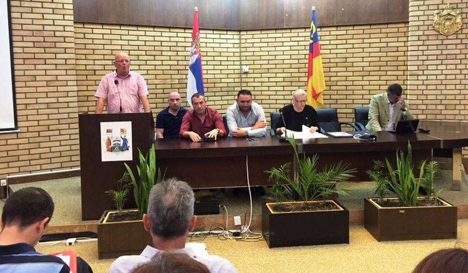 Sastanak za formiranje nove sindikalne organizacije. Foto Grad Vranje