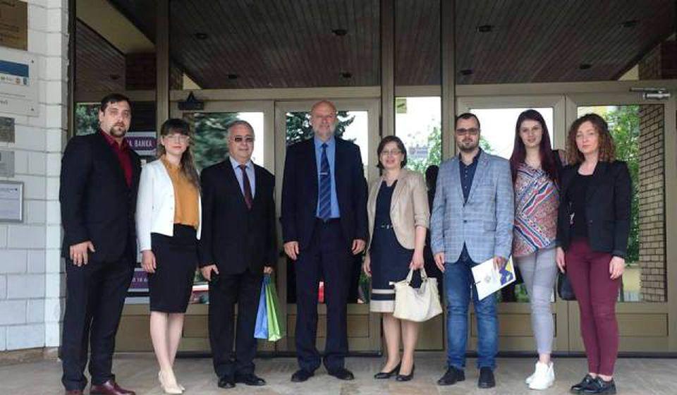 Predstavnici Konzulata Bugarske u Nišu i BSC-a posle prijema kod gradonačelnika Vranja. Foto BSC