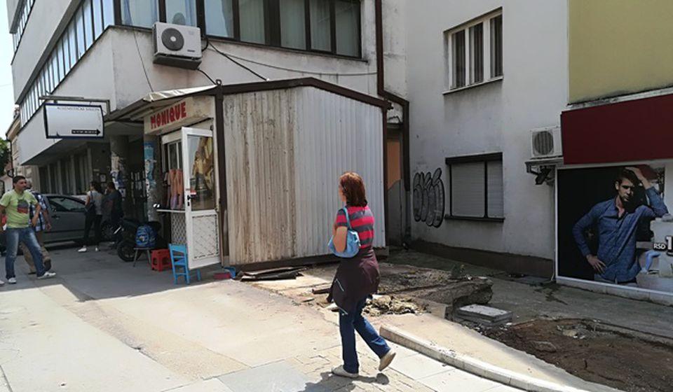 Ovaj prostor navodno je predviđen za zelenu površinu. Foto VranjeNews