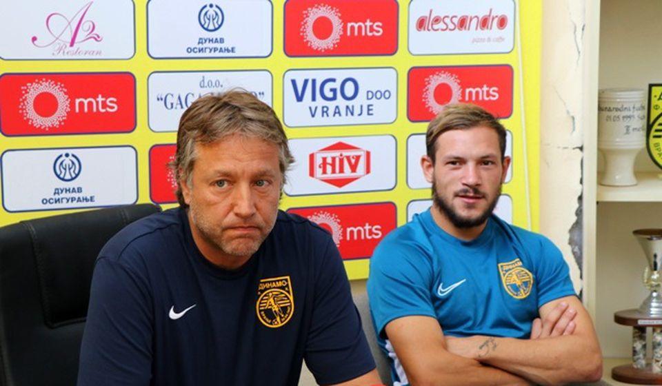 Uroš Kalinić i kapiten Mlađan Stevanović. Foto VranjeNews