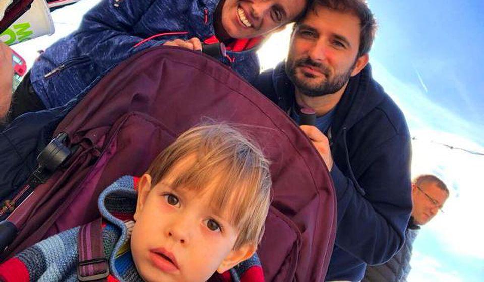 Miljana Ristić Stanković sa porodicom. Foto privatna arhiva