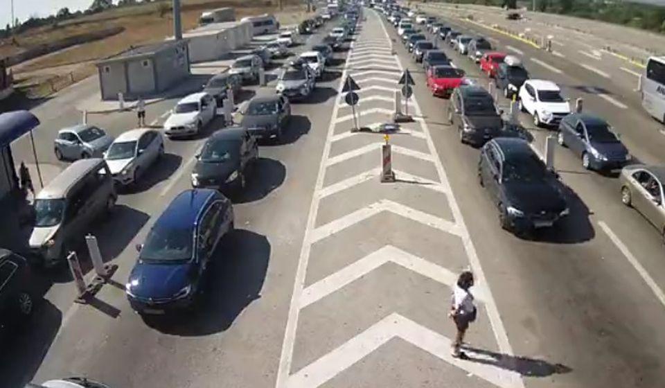 Ulaz u Srbiju iz Makedonije u petak oko 9.15. Foto printscreen Kamere AMSS