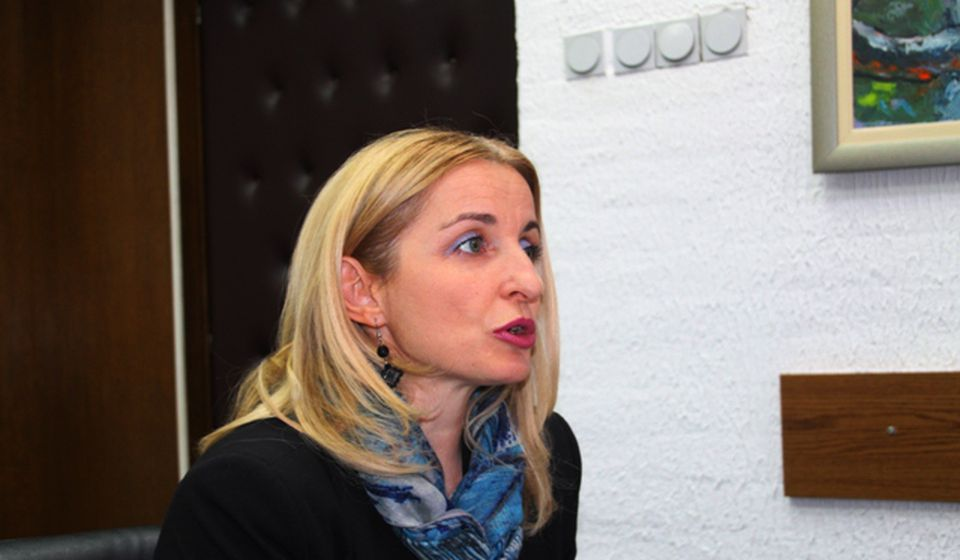 Gradska većnica Zorica Jović na konferenciji za medije. Foto VranjeNews