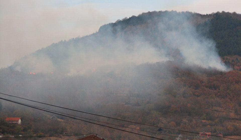Požar se širio ka zapadu. Foto VranjeNews