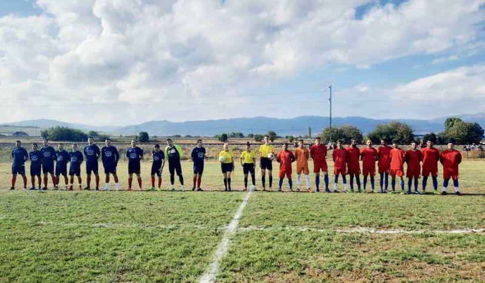 Istorijski trenutak za Vranjance: fudbaleri Radničkog posle deset godina ponovo u zvaničnom takmičenju. Foto FK Radnički