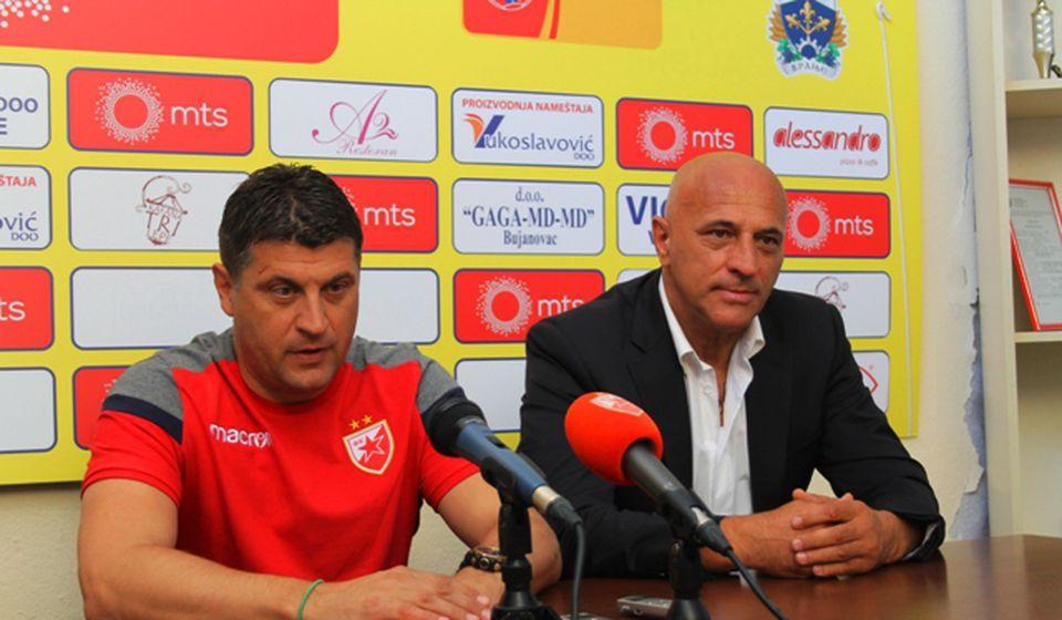 Zadovoljstvo obostrano: Milojević i Antić. Foto VranjeNews