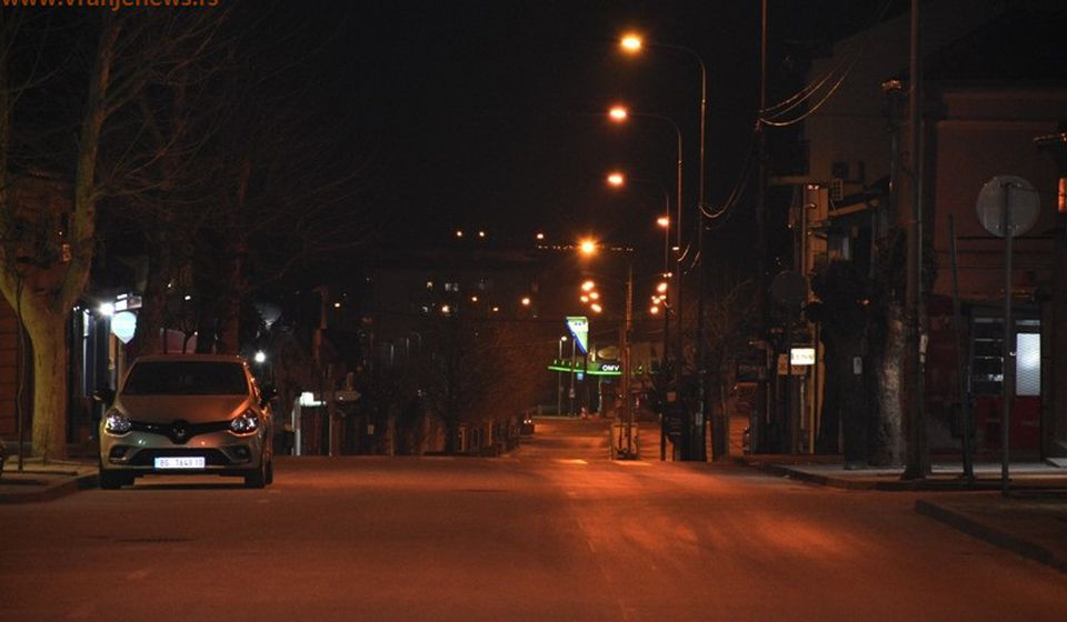 Naredni policijski čas počeće u petak u 17 časova i trajati do ponedeljka u 5 sati ujutro. Foto Vranje News
