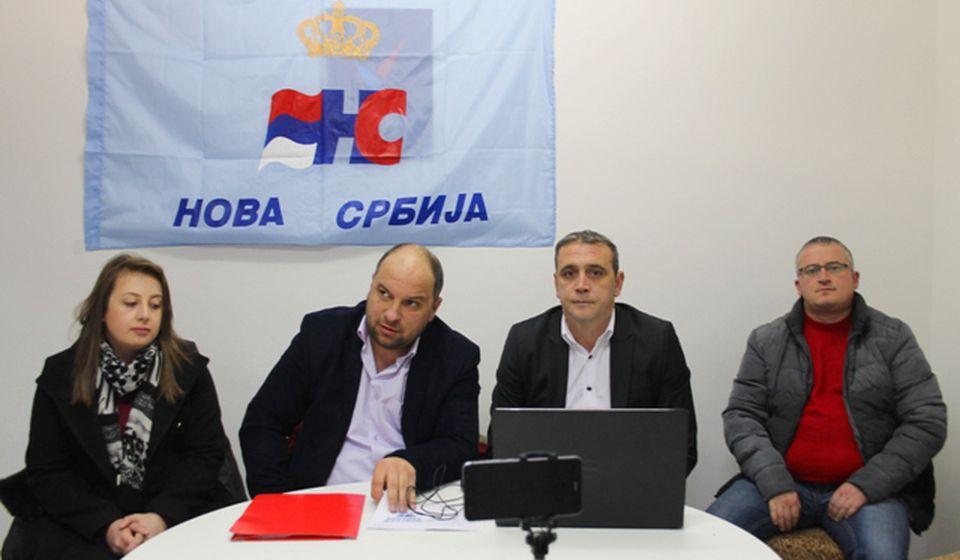 Lideri povereništva Nove Srbije u Vranju. Foto VranjeNews