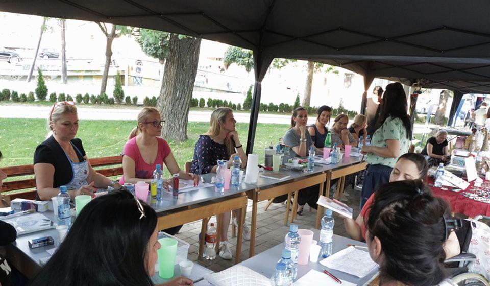 Radionica je okupila dvanaest žena. Foto Vranje News