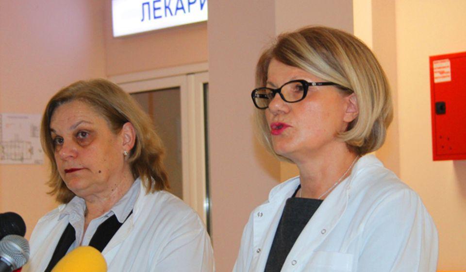Jadranka Ajanović (levo) i Ljiljana Antić saopštavaju podatke o gripu. Foto VranjeNews