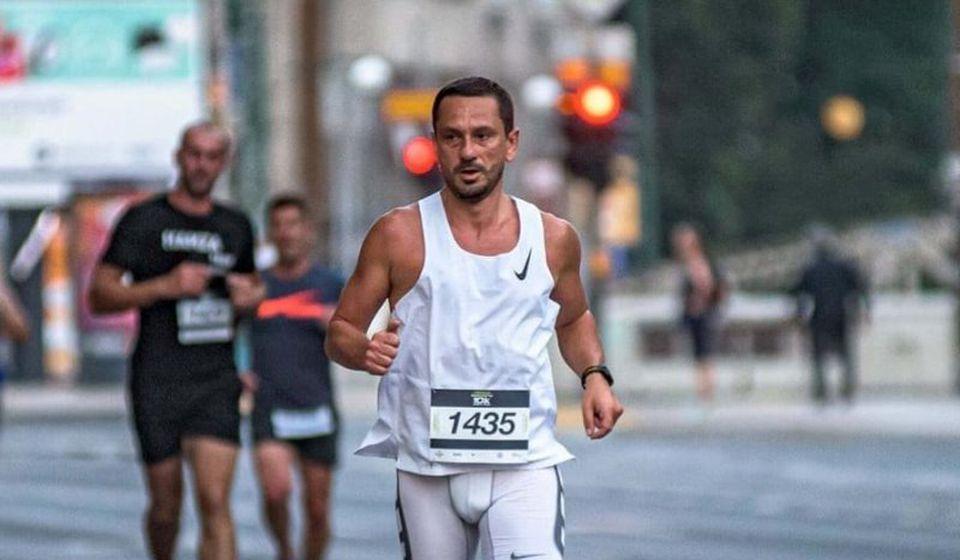 Ćuković na trci u Sarajevu. Foto AK Vranjski maratonci