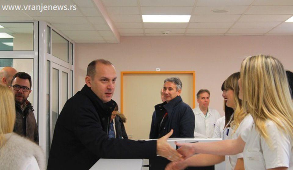 Zlatibor Lončar na otvaranju Hirurškog bloka u Vranju. Foto VranjeNews