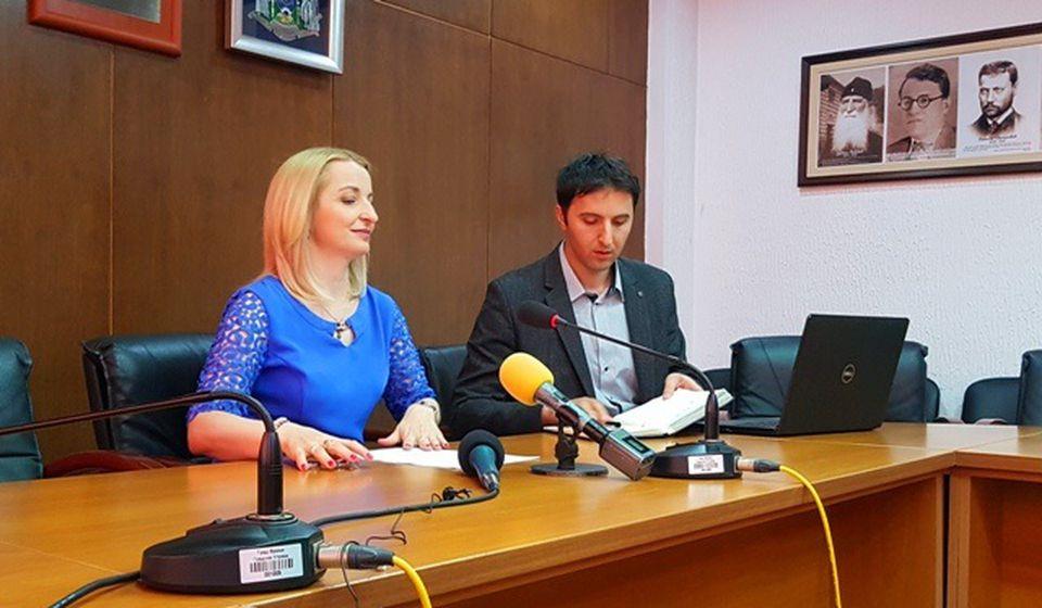 Konferencija za medije nakon sednice Gradskog veća u ponedeljak. Foto VranjeNews