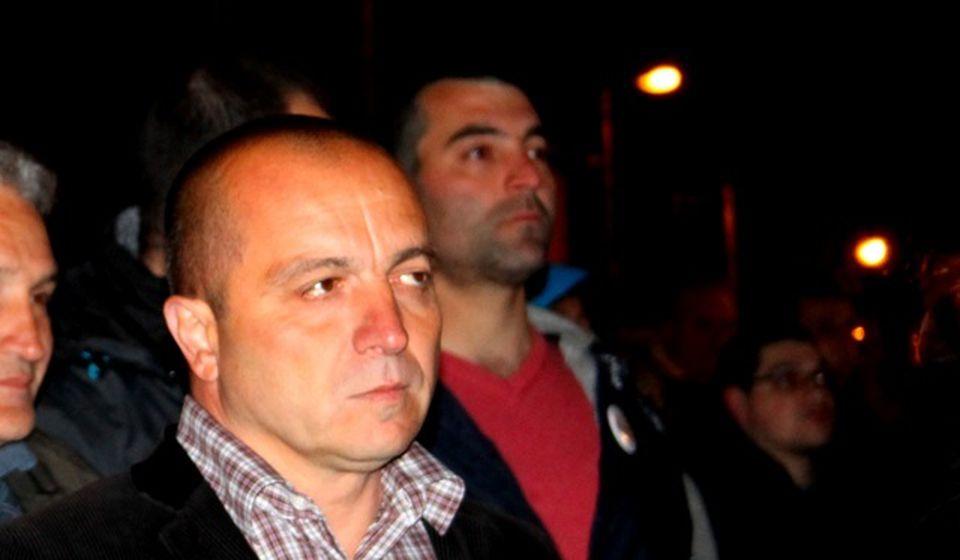 Saša Arsić na jednom od protesta