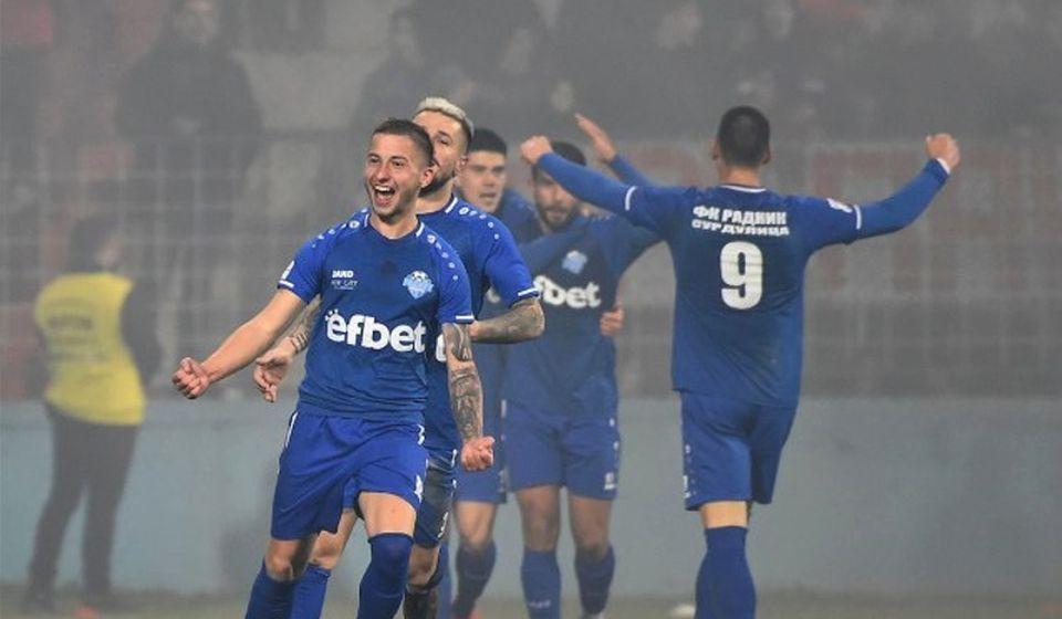 Slavlje fudbalera Radnika. Foto FK Crvena zvezda