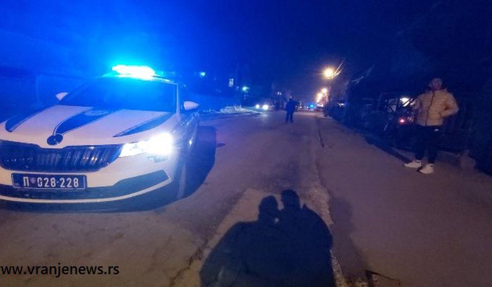 Policija na mestu gde je lociran Marjan Stamenković. Foto Vranje News