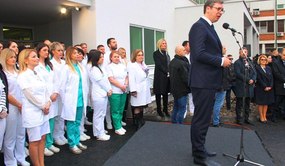 Vučić na otvaranju Hirurškog bloka u Vranju u decembru 2018. Foto Vranje News