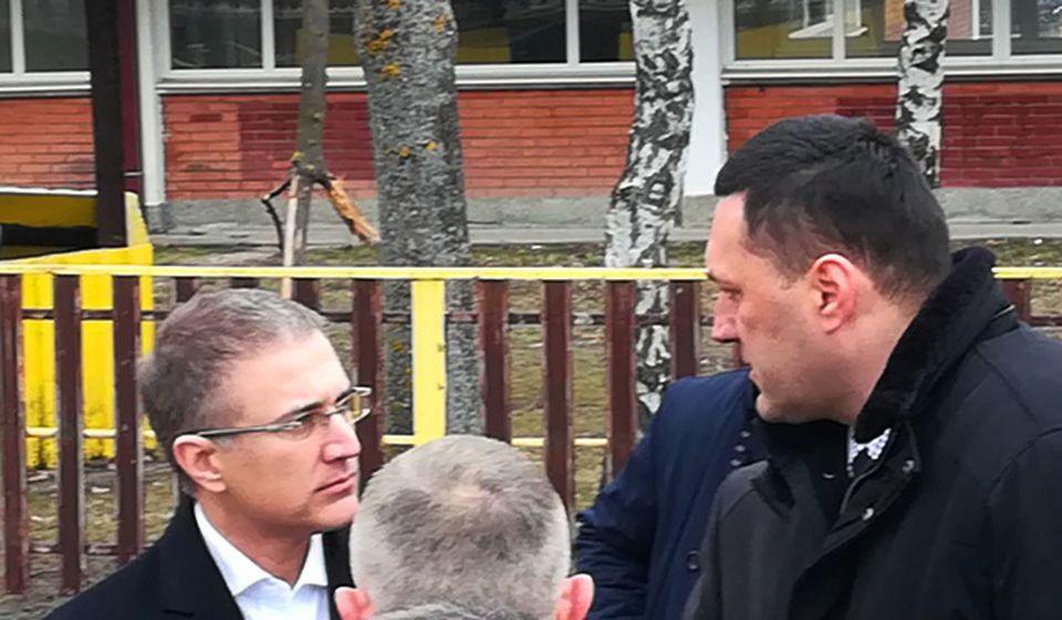 Stefanović i načelnik PU Vranje Igor Živković. Foto VranjeNews