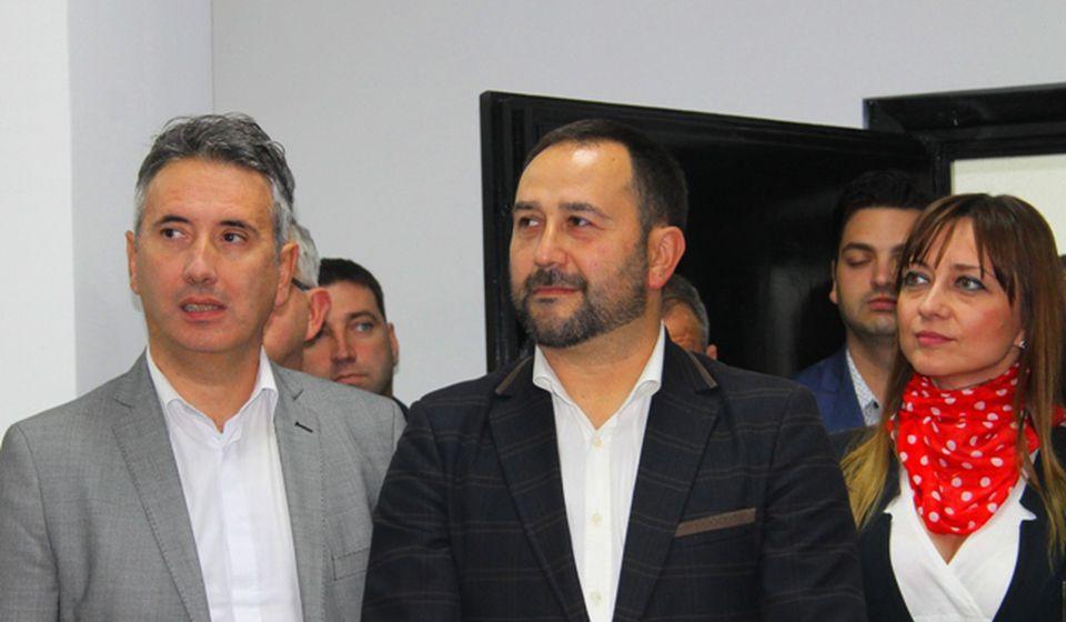 Gradonačelnik i zamenik: Slobodan Milenković i Nenad Antić, funkcioneri SNS u vrhu lokalne vlasti. Foto VranjeNews