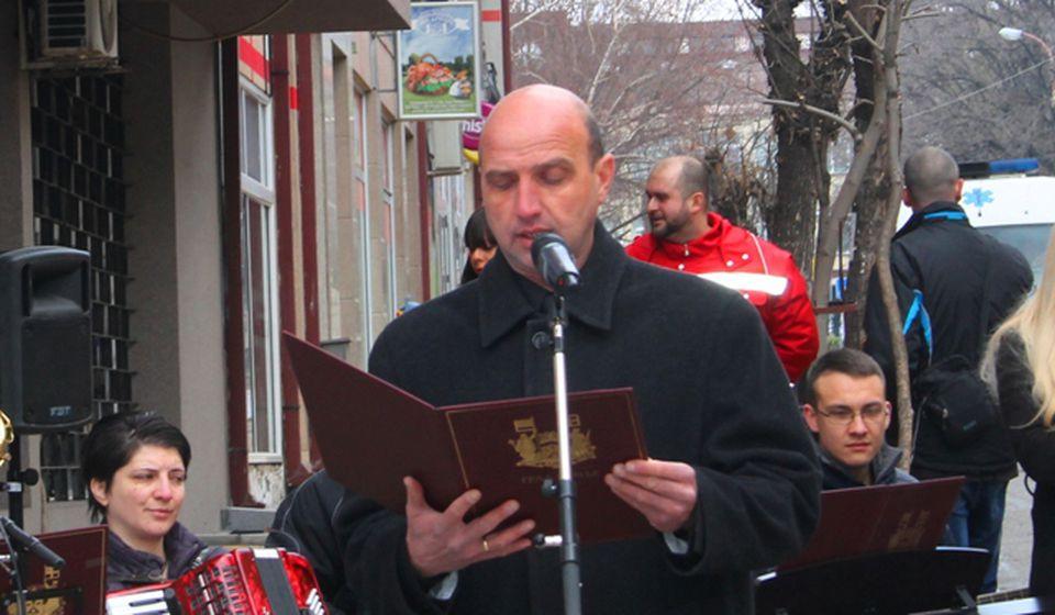Ponosni na pretke sa obavezom prema potomcima: Dejan Tričković. Foto VranjeNews