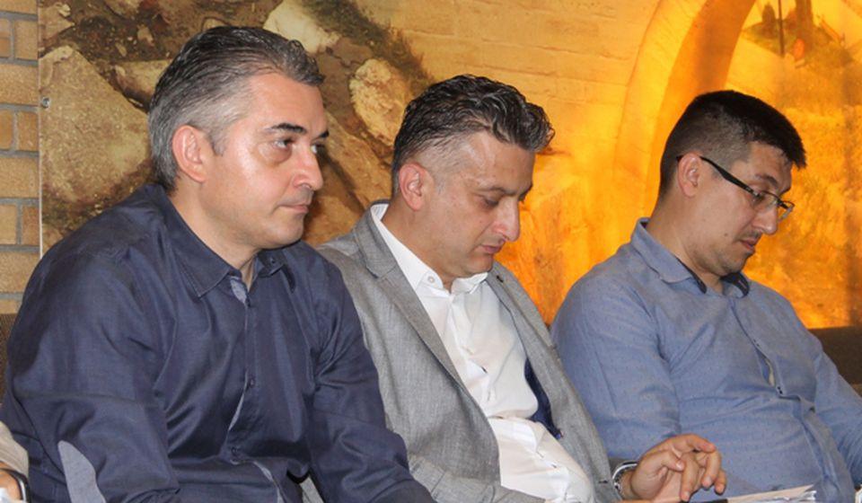 Igor Andonov (levo) u Skupštini grada Vranja. Foto Vranje News