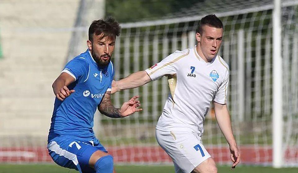 Stanković (desno) doživeo je dvostruki prelom noge. Foto FK Radnik