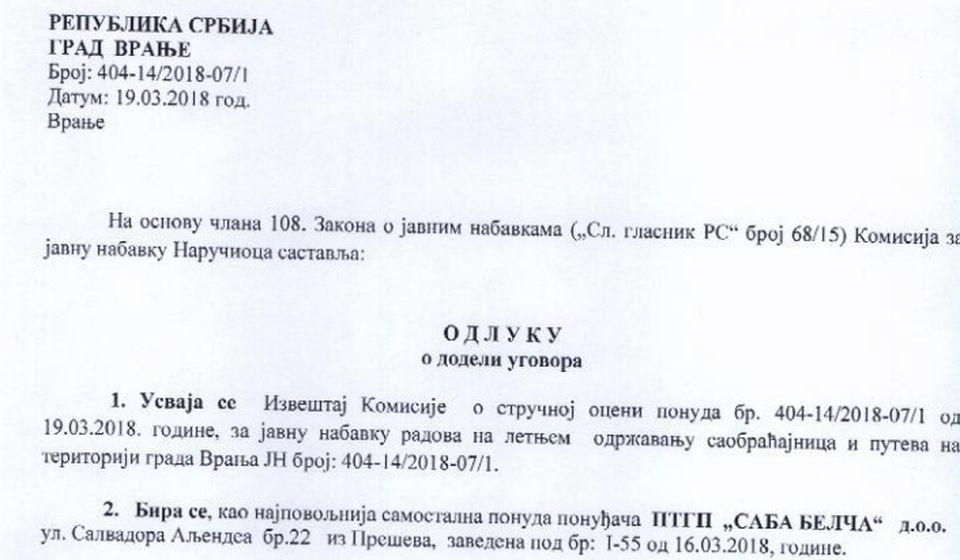 Screenshot VranjeNews