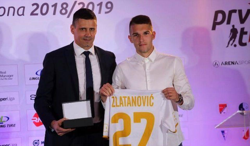 Igor Zlatanović na ceremoniji proglašenja najboljih. Foto Super liga