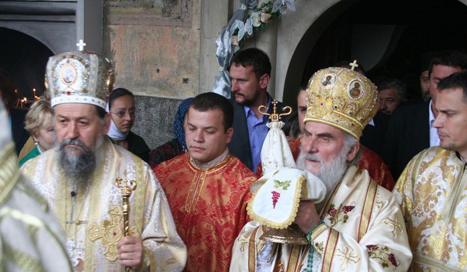 Sa Patrijarhom Irinejem 2010. u Vranju. Foto lična arhiva