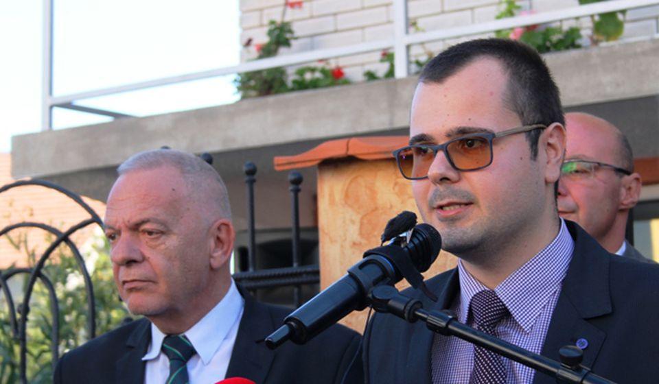 Ambasador Vlajkov i predsednik BSC-a Darko Anačkov. Foto VranjeNews