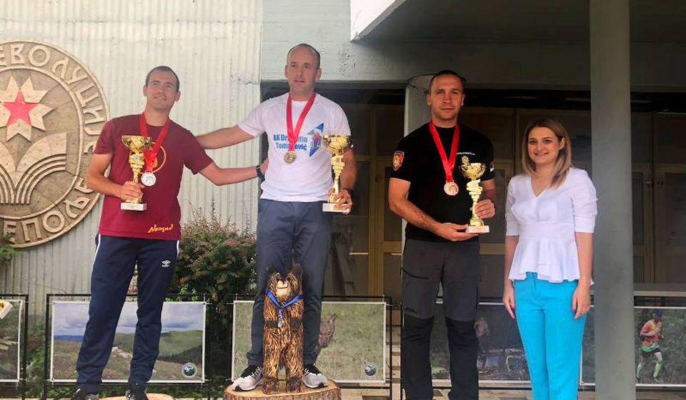 Stanković treći na ultramaratonu u Prijepolju. Foto AK Vranjski maratonci