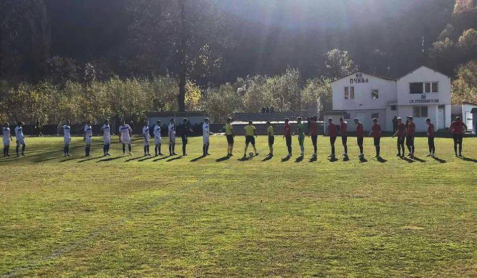 Detalj sa utakmice u Trgovištu. Foto FK Radnički Svilajnac (Fejsbuk)