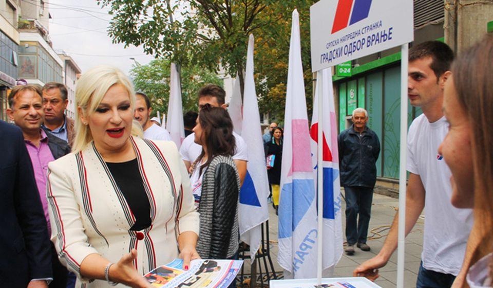 Mihajlovićeva prilikom jedne od ranijih poseta našem gradu. Foto VranjeNews