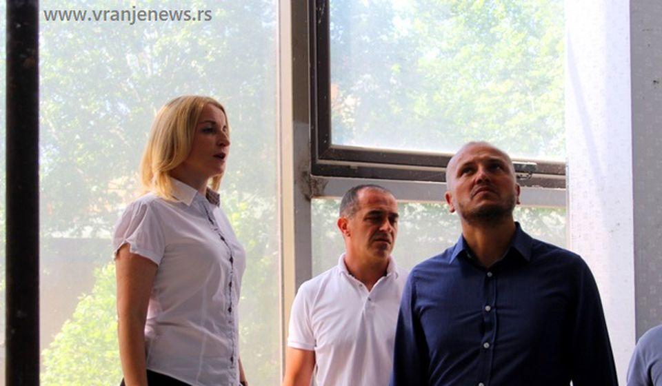Obilazak gradilišta novog teatra. Foto VranjeNews