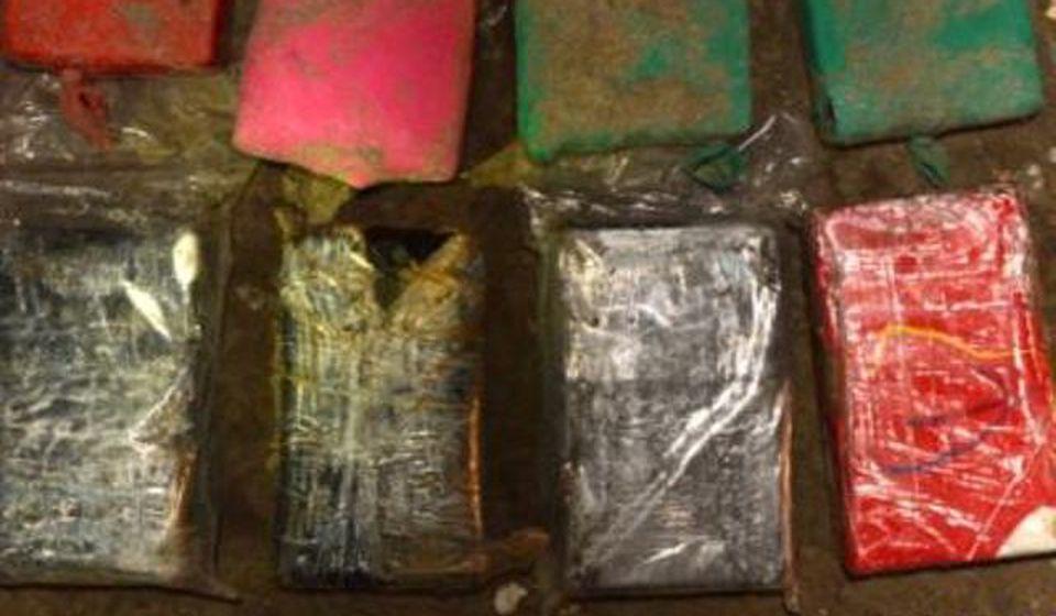 Deo zaplenjenog kokaina. Foto izvor materijal rumunske policije