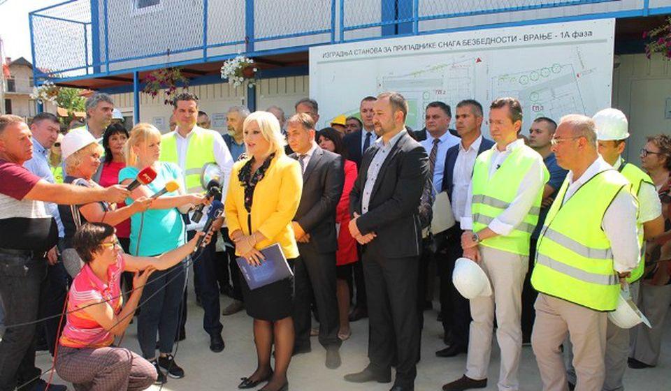 Mihajlovićeva prilikom jedne od poseta gradilištu u Vranju. Foto VranjeNews