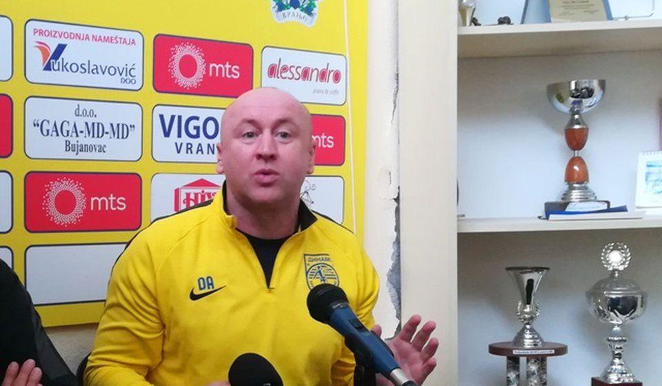 Ja sam želeo da budem trener i lider u Dinamu, da se ja pitam: Saša Ćurčić. Foto VranjeNews
