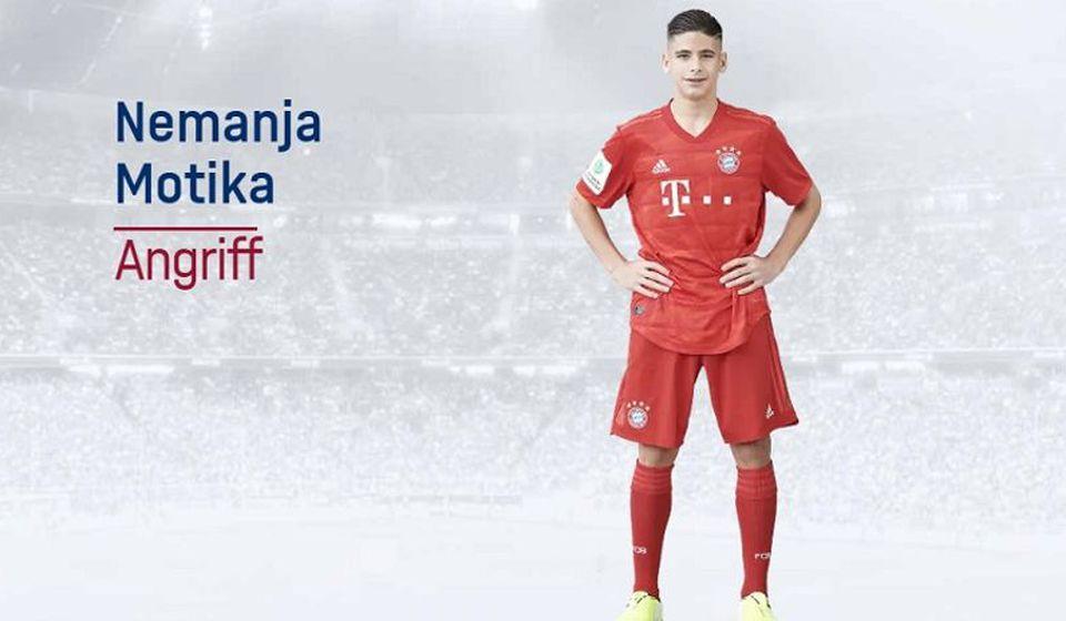 Nemanja Motika. Foto fcbayern.com