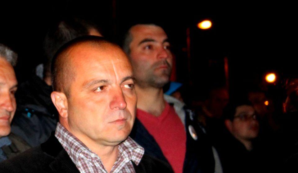 Saša Arsić na desetom protestu u Vranju. Foto VranjeNews