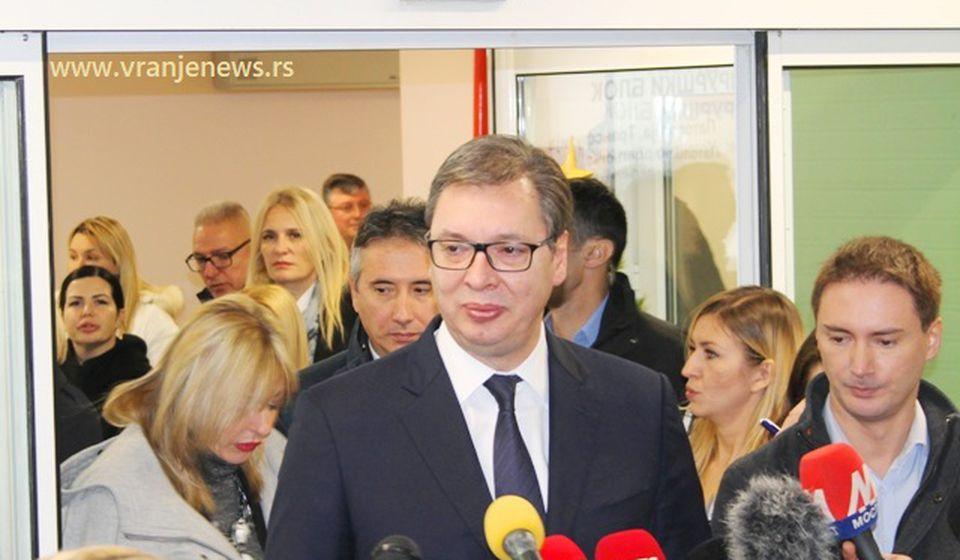Vučić čest gost na ceremonijama otvaranja objekata u Vranju. Foto VranjeNews