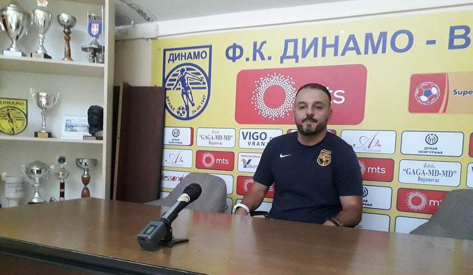 Trener Dinama Saša Jovanović nada se osvajanju tri boda u Svilajncu. Foto FK Dinamo