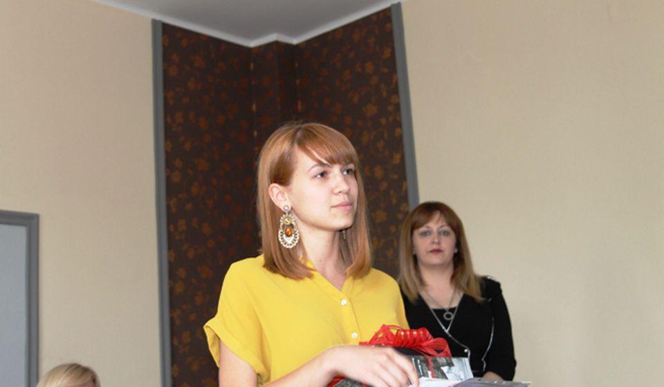 Đak generacije gimnazije: Jelena Filipović. Foto VranjeNews
